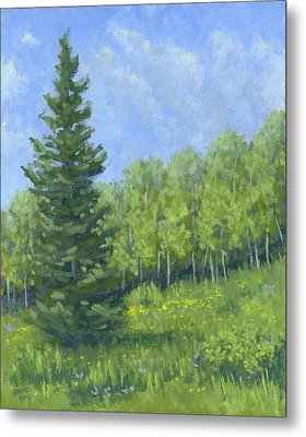 Spring Evergreen Metal Print by David King