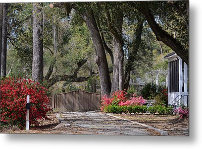 Spring Gate Metal Print by Linda Brown