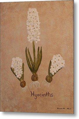 Spring Hyacinths Metal Print by Brenda Marie Black