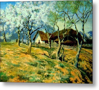 Metal Print featuring the painting Spring In Poland by Henryk Gorecki