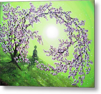 Spring Morning Meditation Metal Print by Laura Iverson