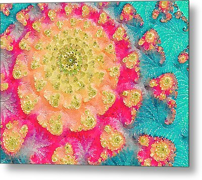 Metal Print featuring the digital art Spring On Parade 2 by Bonnie Bruno