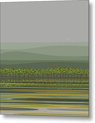 Spring Rain Reflections Metal Print