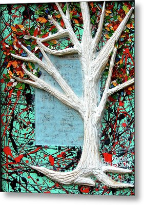 Spring Serenade With Tree Metal Print by Genevieve Esson