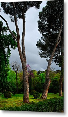 Spring Storm Over Park Retiro Metal Print by Georgia Nick