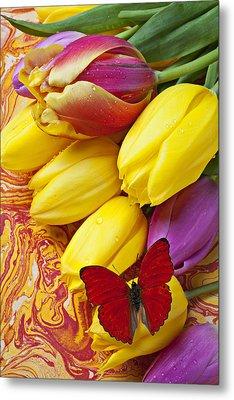 Spring Tulips Metal Print by Garry Gay