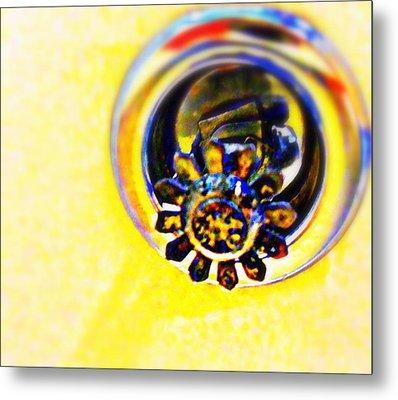 Sprinkler Metal Print by Randall Weidner