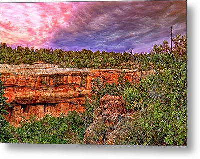 Metal Print featuring the photograph Spruce Tree House At Mesa Verde National Park - Colorado by Jason Politte