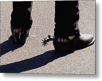 Metal Print featuring the photograph Spurs by DiDi Higginbotham