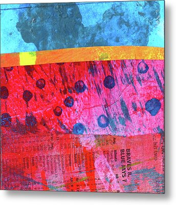 Metal Print featuring the painting Square Collage No. 12 by Nancy Merkle