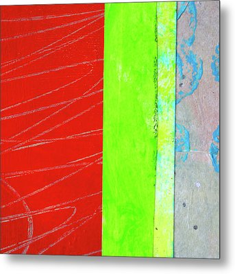 Metal Print featuring the painting Square Collage No. 5 by Nancy Merkle