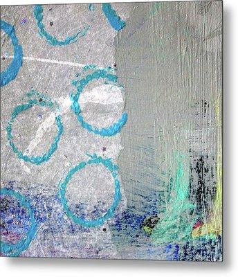 Square Collage No. 6 Metal Print by Nancy Merkle