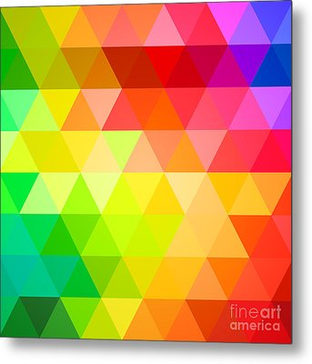 Square Spectrum Metal Print by Radu Bercan