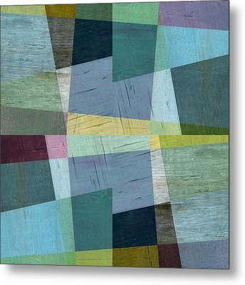 Squares And Shims Metal Print by Michelle Calkins