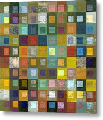 Squares In Squares Five Metal Print by Michelle Calkins