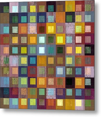 Squares In Squares One Metal Print by Michelle Calkins