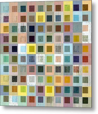 Squares In Squares Three Metal Print by Michelle Calkins