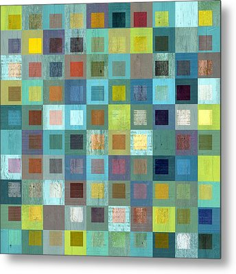 Squares In Squares Two Metal Print by Michelle Calkins