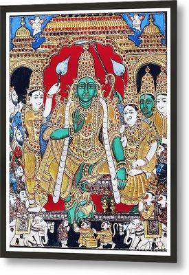 Sri Ramar Pattabhishekam Metal Print by Ragunath Venkatraman