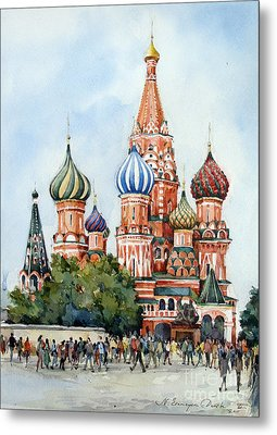 St. Basil Cathedral- Moscow -russia Metal Print