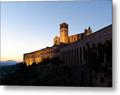 St Francis Assisi At Sundown Metal Print by Jon Berghoff