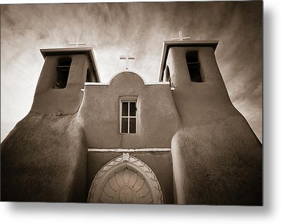 St Francis Church Front Metal Print by Marilyn Hunt