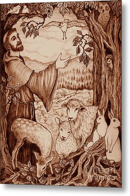 St. Francis Metal Print by Debra A Hitchcock
