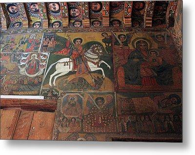 St George In Debre Birhan Selassie Church Metal Print by Aidan Moran