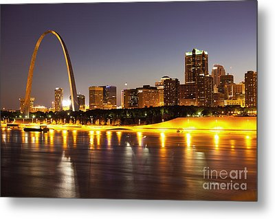 St Louis Skyline Metal Print by Bryan Mullennix