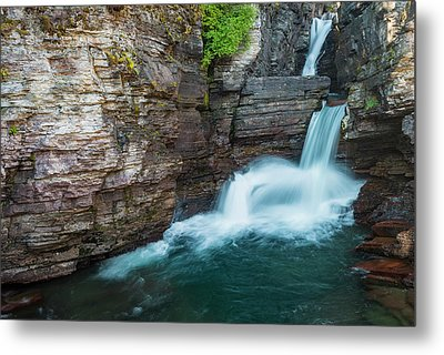 Metal Print featuring the photograph St. Mary Falls by Gary Lengyel