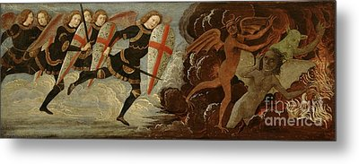 St. Michael And The Angels At War With The Devil Metal Print