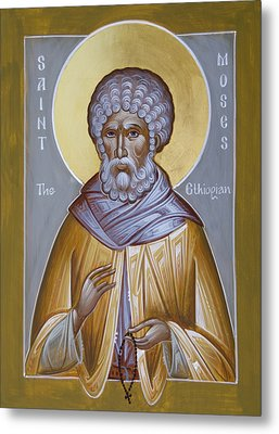 St Moses The Ethiopian Metal Print