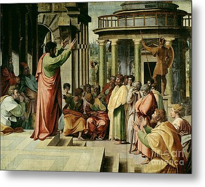 St. Paul Preaching At Athens  Metal Print