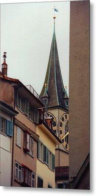 St. Peter Tower Zurich Switzerland Metal Print