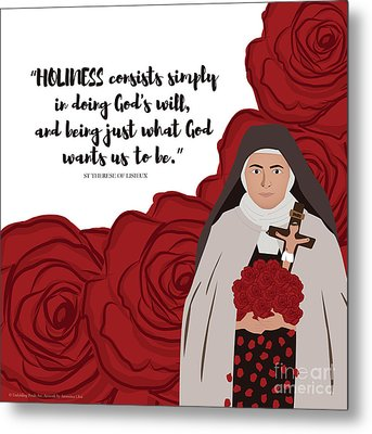 St Therese Of Lisieux On Holiness Metal Print