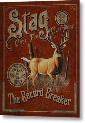 Stag Cartridges Sign Metal Print by JQ Licensing