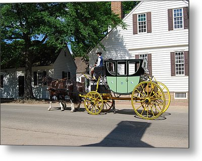 Stage Coach Metal Print by Eric Liller