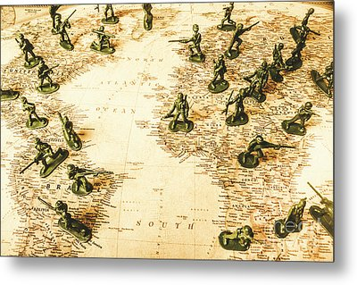 Staged World War Metal Print by Jorgo Photography - Wall Art Gallery