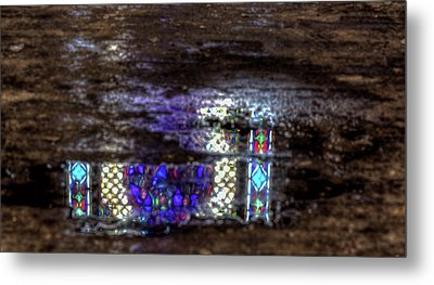 Stained Glass Reflections Metal Print