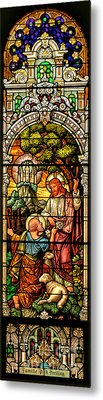 Metal Print featuring the photograph Stained Glass Scene 9 by Adam Jewell
