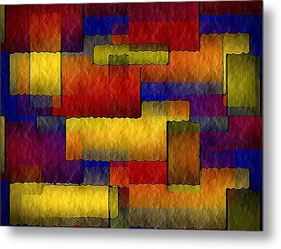 Stained Glass Wall Metal Print by Terry Mulligan