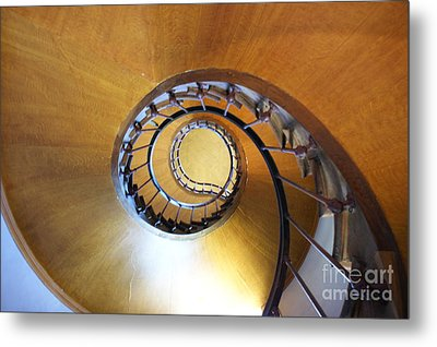 Staircase At Azay Le Rideau Metal Print
