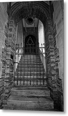 Stairs Beyond B-w Metal Print by Christopher Holmes
