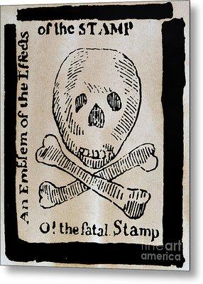 Stamp Act: Cartoon, 1765 Metal Print by Granger
