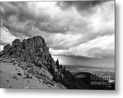 Standing Against The Storm Metal Print by Scott Pellegrin