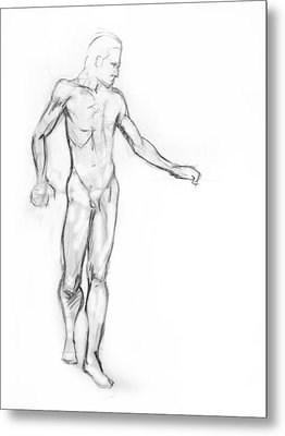 Standing Male Nude Metal Print by Adam Long