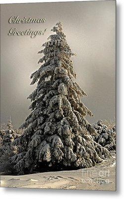 Standing Tall Christmas Card Metal Print by Lois Bryan