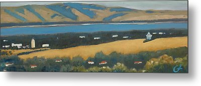 Metal Print featuring the painting Stanford By The Bay by Gary Coleman