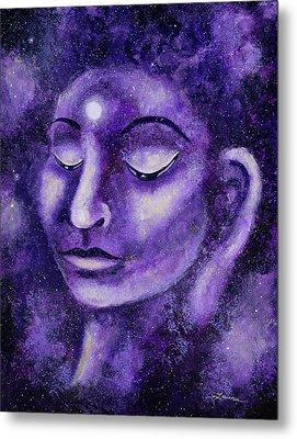Star Buddha Of Purple Patience Metal Print