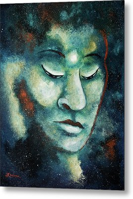 Star Buddha Of Teal Tranquility Metal Print